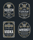 Alcoholic drinks labels - 243159673
