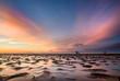 Leinwandbild Motiv Traumhafte Lichtstimmung an der Nordsee