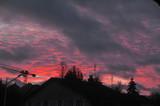 coucher de soleil sur la ville - 243166088