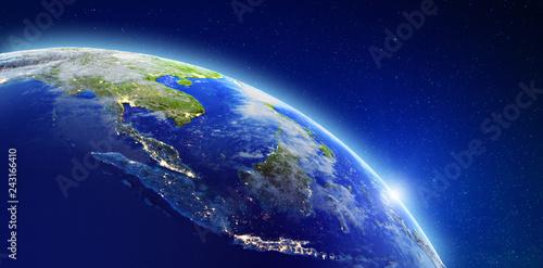 Leinwanddruck Bild South-east Asia - Indonesia, Malaysia, Singapore and Thailand