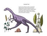 Fototapeta Dinusie - Compsognathus Dinosaur vector. © trihubova