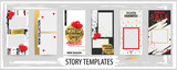 Trendy editable template for social networks stories, valentine vector illustration. - 243192038