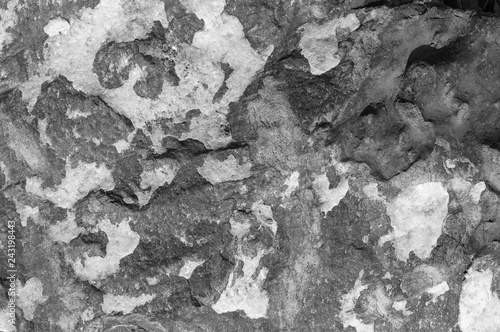 Texture of dark gray and black slate or background for design..Wall of a rock surface with an abstract pattern. - 243198443