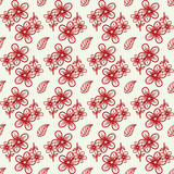 Abstract flower seamless pattern with leaves. Background Abstract flower seamless pattern with leaves.