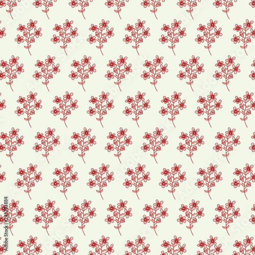 Abstract flower seamless pattern with leaves. Background Abstract flower seamless pattern with leaves. - 243203884