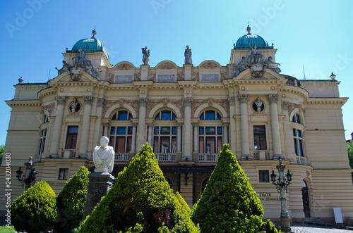 obraz PCV Building of Juliusz Slowacki Theater in Krakow, Poland