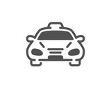 Taxi cab transport icon. Car vehicle sign. Taxicab driving symbol. Quality design element. Classic style icon. Vector - 243205659