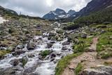 Summer landscape of Malyovitsa peak and Malyoviska river, Rila Mountain, Bulgaria