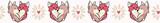 Vector cute fox hug hearts. Seamless repeat border. Hand drawn 2 foxy animals hugging inside love heart for romantic valentines day, wedding or pet anniversary banner ribbon. Free hug concept. - 243217414