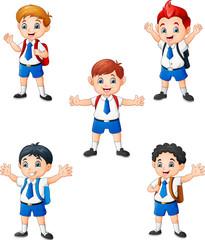 Happy school boys in different posing © idesign2000