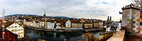 panorama of Zurich city center