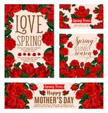 Flower card for Spring Season or Mother Day design