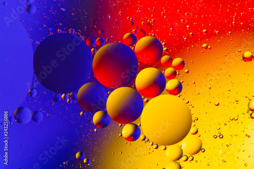 Leinwandbild Motiv Abstract background with colorful gradient colors. Oil drops in water abstract psychedelic pattern image.
