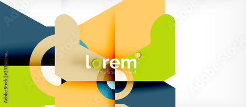 Abstract round elements composition background, organic design