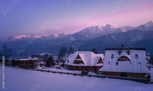 High Tatras at sunset - Zakopane - Poland
