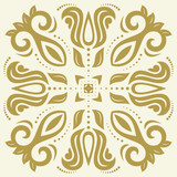 Elegant vintage vector golden ornament in classic style. Abstract traditional pattern with oriental elements. Classic vintage pattern - 243261840