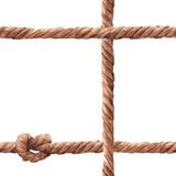 Watercolor rope fishing net pattern - 243263294