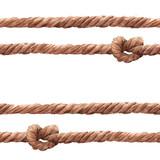 Watercolor rope fishing net pattern - 243263405
