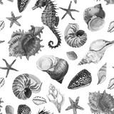 Watercolor sea life pattern - 243263615