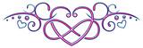 Großes Herz mit Unendlichkeitszeichen und kleinen Herzen. Pink und Blau.  - 243269663