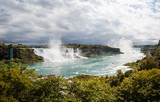 Panoramic view of the Niagara falls.