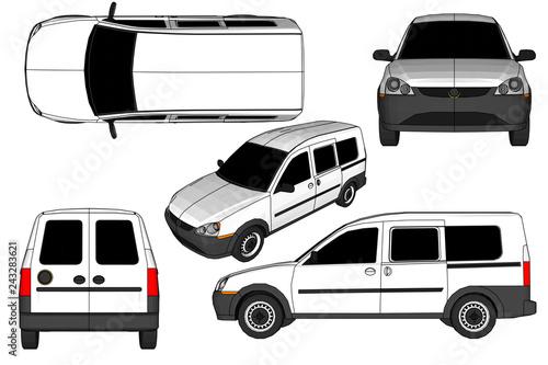 3D sports car vector - 243283621