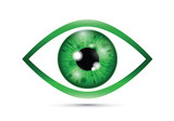 green Realistic eyeball