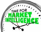 Time for Market Intelligence Clock Words 3d Illustration - 243285677