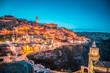 Leinwanddruck Bild - Sassi di Matera at twilight, Basilicata, Italy