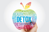 DETOX apple word cloud with marker, health concept background - 243294249