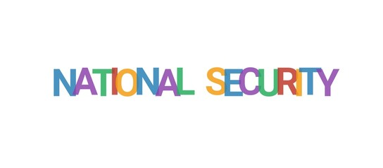National security word concept