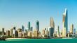 Leinwanddruck Bild - Panorama of Kuwait City in the Persian Gulf
