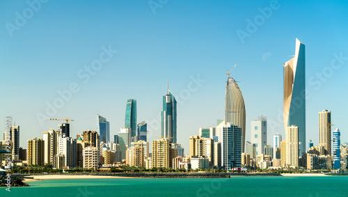 Leinwanddruck Bild Panorama of Kuwait City in the Persian Gulf