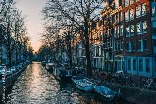 Poster Amsterdam, Pays Bas