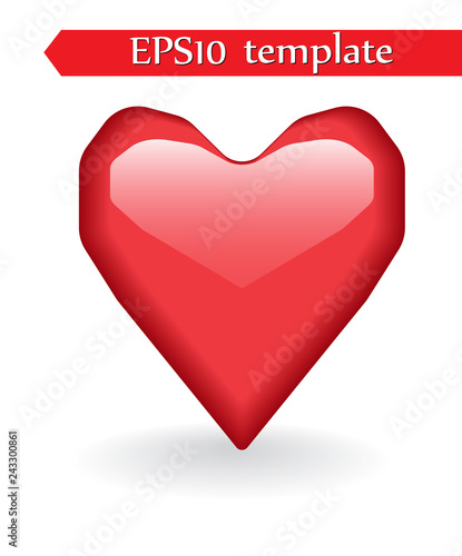 Heart shape. Heart vector. Hand drawn icon. Trendy heart isolated on white background. - 243300861
