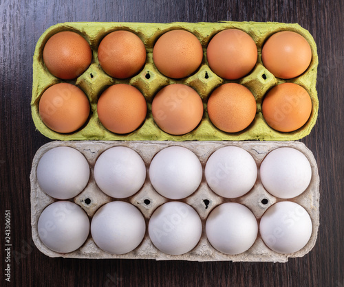 chicken eggs in a package