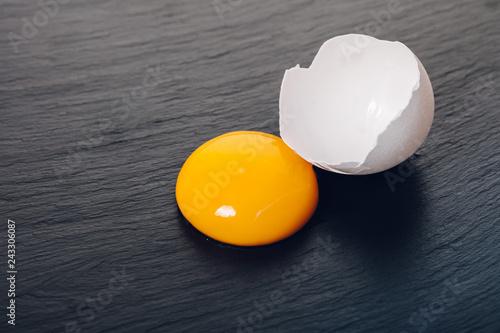 chicken egg yolk closeup