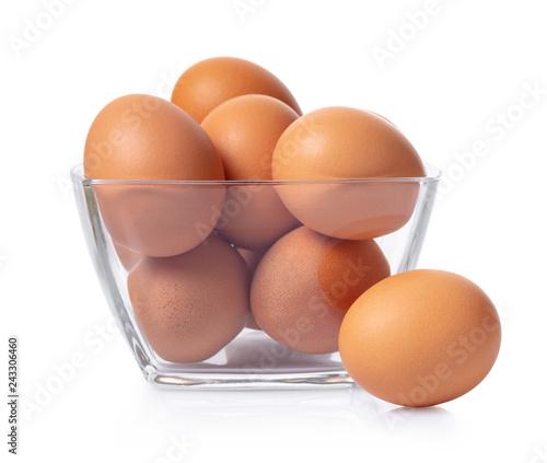 chicken eggs in bowl