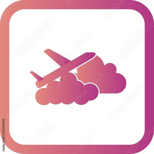 Vector Plane cloud Icon