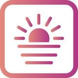 Vector Sunset Icon