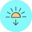 Vector Sundown Icon