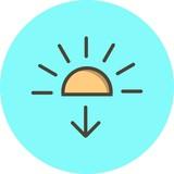 Vector Sundown Icon - 243310213