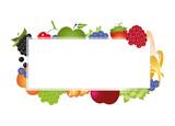 verschiedene Früchte Banner - 243319245
