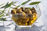green olives in olive oil