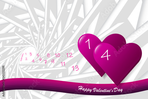 Pink vector of love theme showing pink hearts on the abstract background