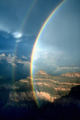 Rainbow at Mather Point, Grand Canyon National Park