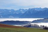 Aussicht von Längenberg, Berner Alpen, Schweiz  - 243329675