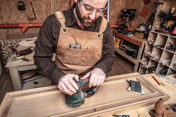 carpenter at work © tiero