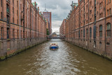 Hamburg, Germany - built between 1883 and 1927, the Hamburg Speicherstadt is the largest warehouse district in the world, and a Unesco World Heritage site - 243344894