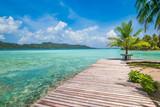 Motu at Bora Bora Island, Society Islands, French Polynesia - 243347221